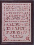 Olde Alphabets In Red 12