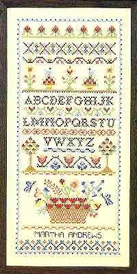 "Blossoms & Berries Sampler 10"" x 21"""