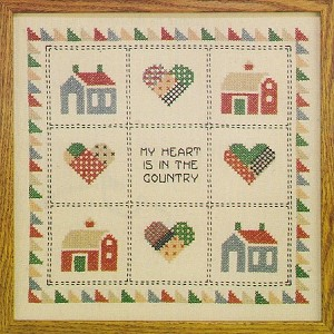 Country Heart  12 x12