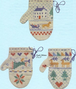 365 Merry Mittens Complete set of 3