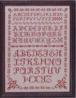 "Olde Alphabets In Red 12"" x 16"""
