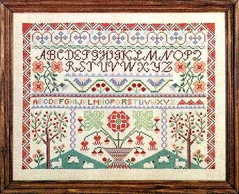 Counted cross stitch sampler the sarah johnson sampler.
